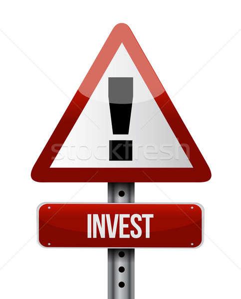 Stok fotoğraf: Yol · işareti · örnek · dizayn · beyaz · kırmızı · finanse