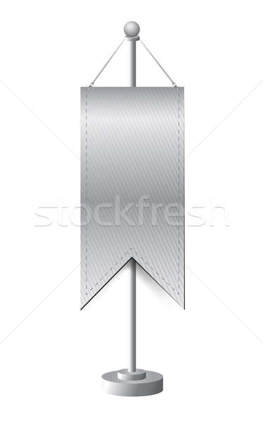 stand banner template illustration design over white Stock photo © alexmillos