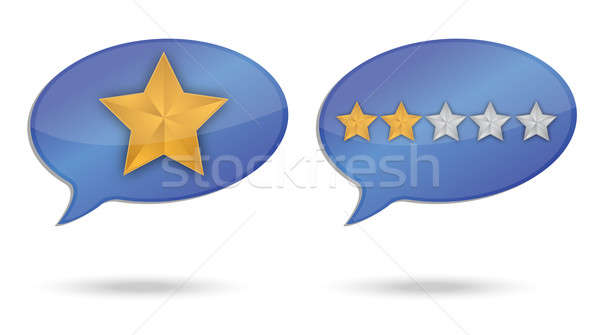 ranking quality message illustration design over white Stock photo © alexmillos