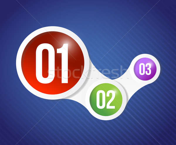 Color numbers info graphics illustration design Stock photo © alexmillos