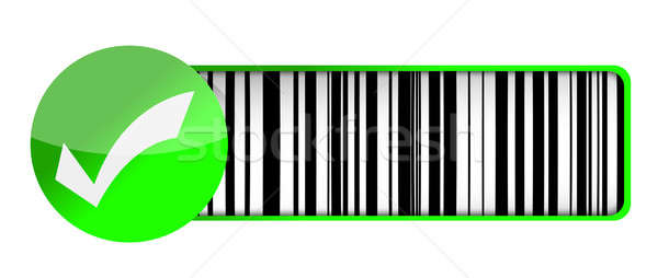 Checkmark barcode UPC Stock photo © alexmillos