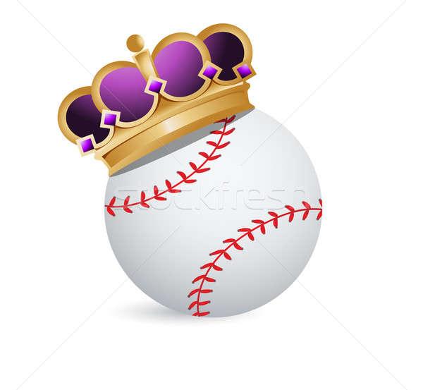 Baseball ball with a crown  Stock photo © alexmillos