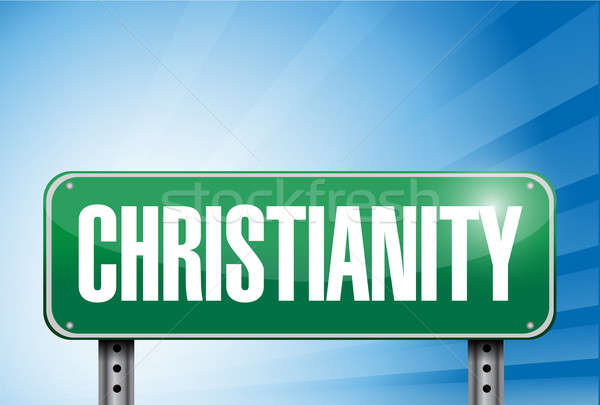 Christianity religious road sign banner  Stock photo © alexmillos