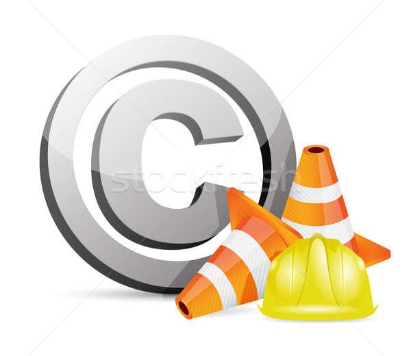Direitos autorais proteção estrada edifício construção trabalhar Foto stock © alexmillos