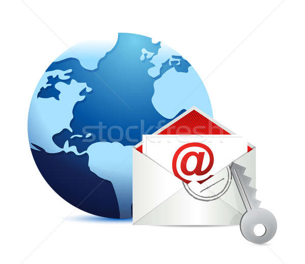 E-mail concept on white background  Stock photo © alexmillos