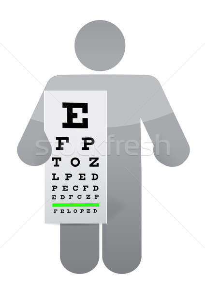 Doktor göz muayenesi grafik örnek dizayn beyaz Stok fotoğraf © alexmillos
