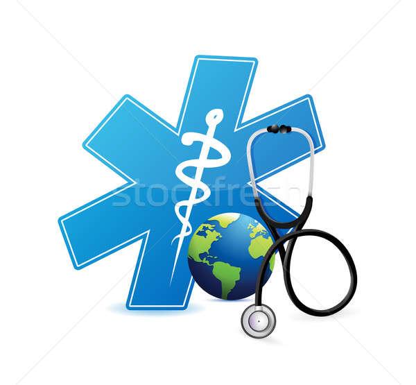 medical international symbol . illustration design Stock photo © alexmillos