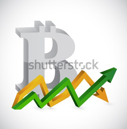 questions and exclamation up and down arrow chart Stock photo © alexmillos