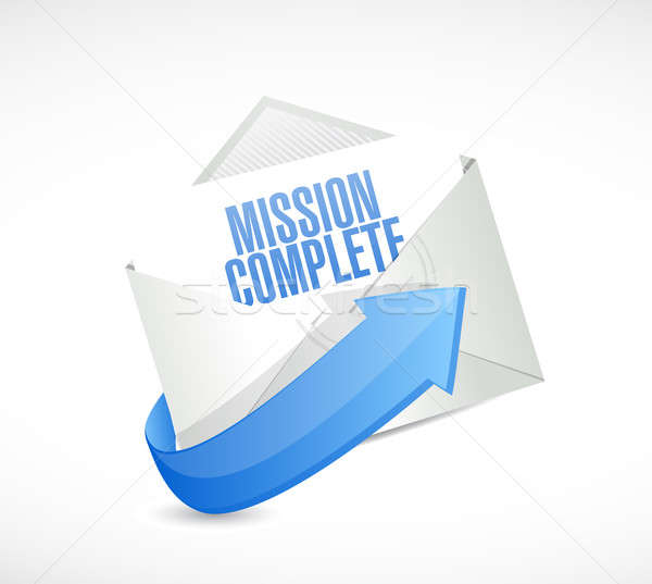 mission complete mail sign concept Stock photo © alexmillos