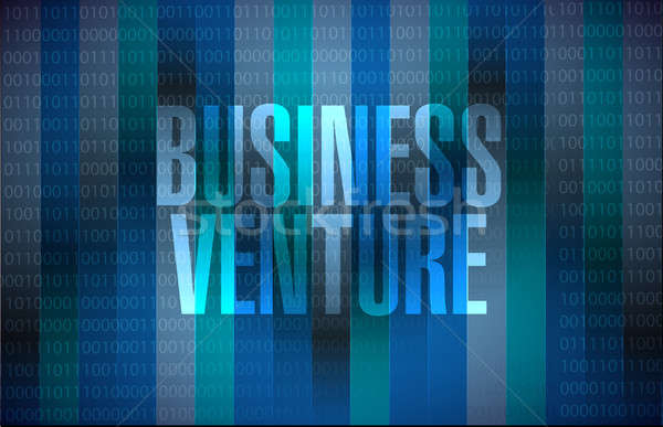 business venture binary sign concept Stock photo © alexmillos
