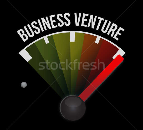business venture speedometer sign concept Stock photo © alexmillos