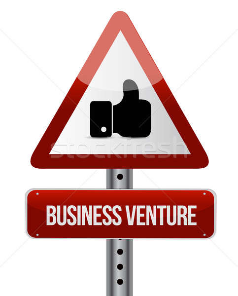 business venture like road sign concept Stock photo © alexmillos