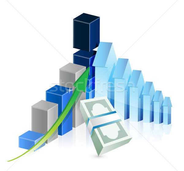 financial business graph illustration Stock photo © alexmillos