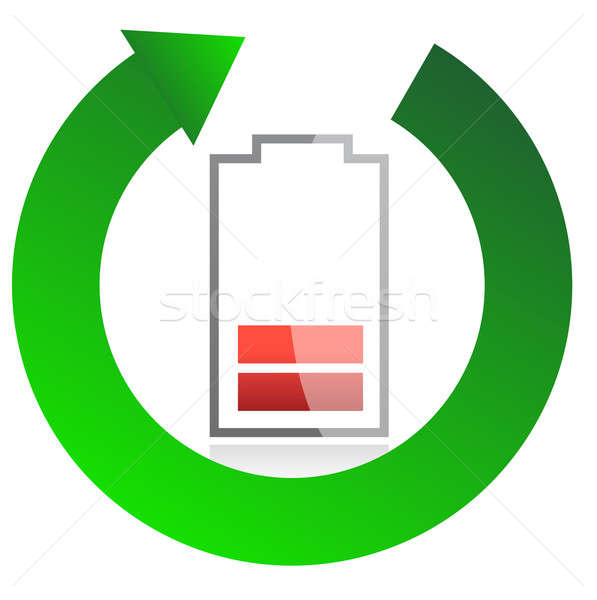 battery recycling concept illustration design over white Stock photo © alexmillos