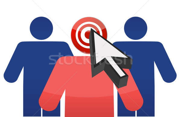 Targeting customers illustration design over white background Stock photo © alexmillos