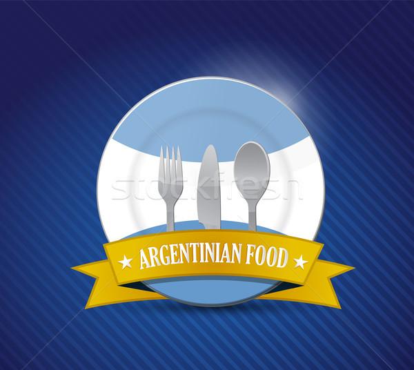 Traditional Argentinian restaurant , menu illustration design ov Stock photo © alexmillos