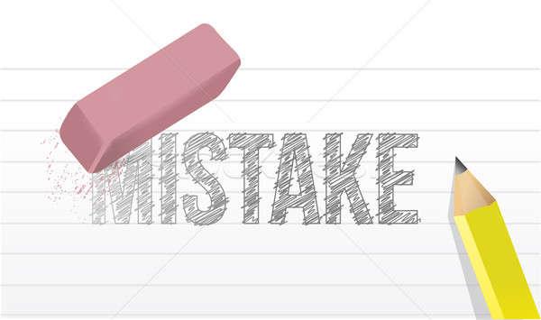 erase mistakes concept illustration design over a white backgrou Stock photo © alexmillos