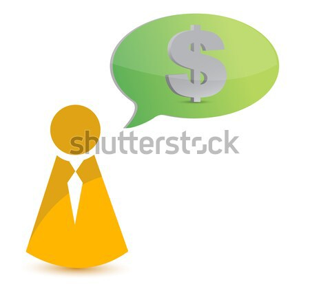 thinking in money illustration design over white background Stock photo © alexmillos