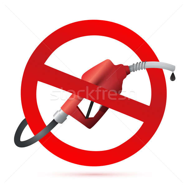 Rejected sign with a gas pump nozzle Stock photo © alexmillos