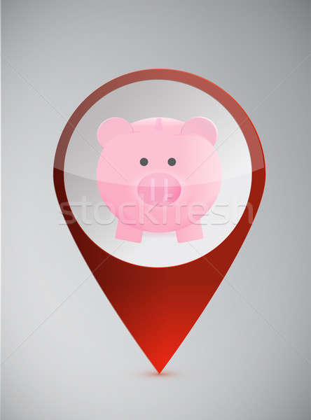 Profits and savings locator Stock photo © alexmillos