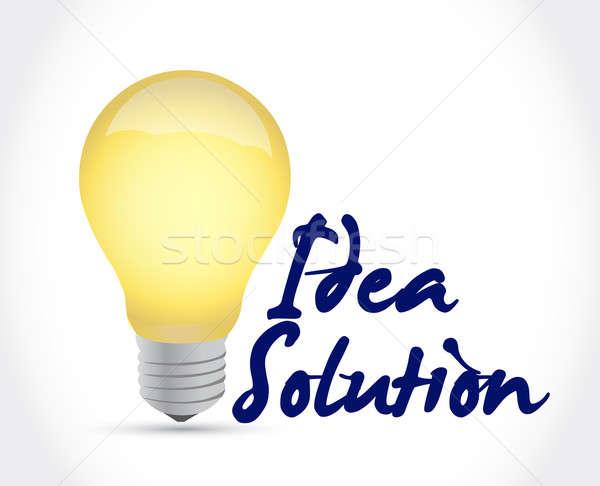 Idea solution light bulb illustration design  Stock photo © alexmillos