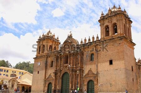 Historic Iglesia de la Compania in the Plaza de Armas of Cusco i Stock photo © alexmillos