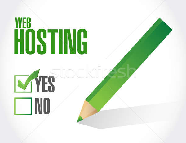 Web hosting approval sign concept Stock photo © alexmillos
