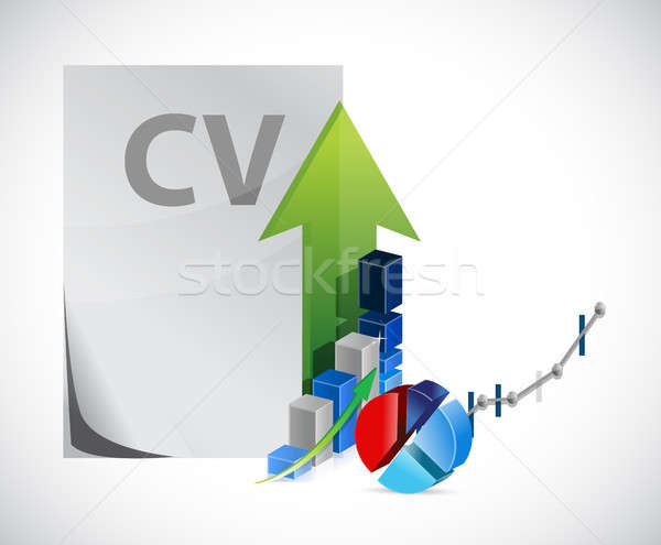 Cv business illustratie ontwerp Stockfoto © alexmillos