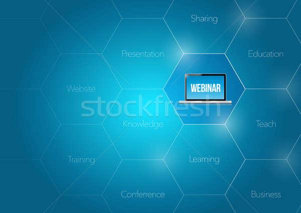Online webinar business diagram illustratie ontwerp Stockfoto © alexmillos