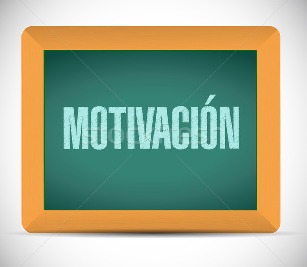 Motivation chalkboard sign in Spanish concept Stock photo © alexmillos
