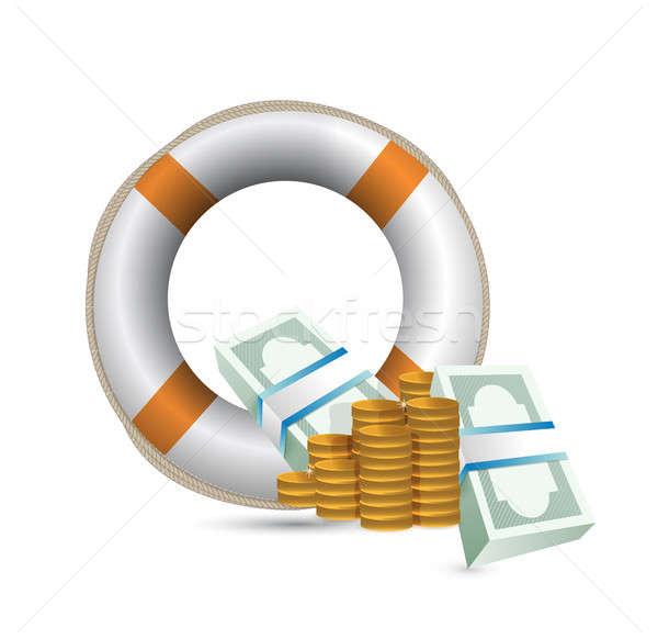 Economía ilustración blanco papel ayudar financiar Foto stock © alexmillos