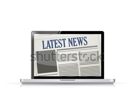 Latest News and technology illustration Stock photo © alexmillos