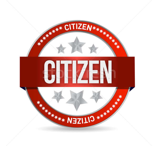 citizen Stamp seal illustration design Stock photo © alexmillos