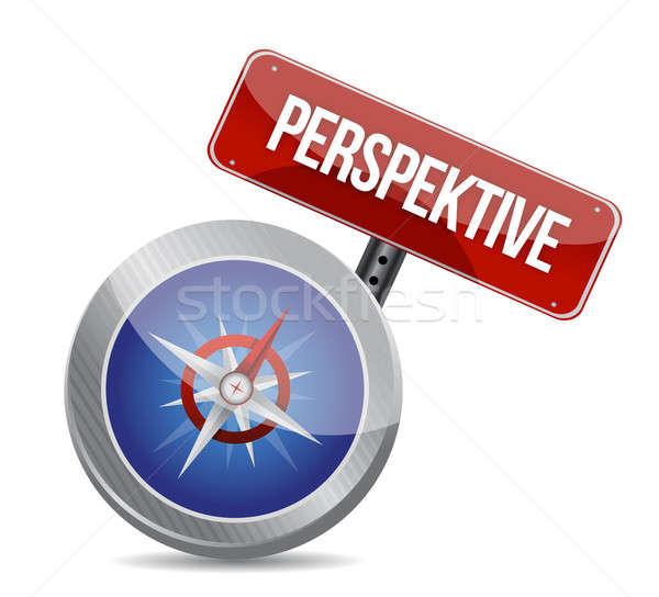 Przewodnik perspektywy kompas ilustracja projektu Zdjęcia stock © alexmillos