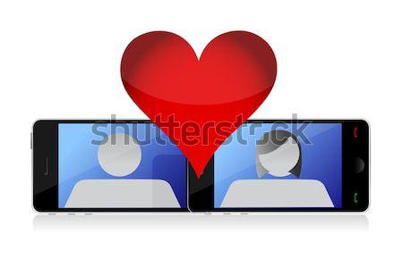 ノートパソコン を デート グラフィック 実例 デザイン ストックフォト © alexmillos