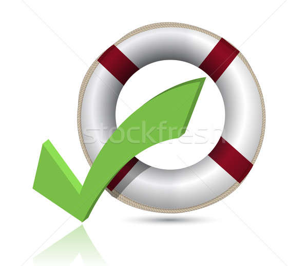 Lifesaver and Check Mark Symbol Stock photo © alexmillos