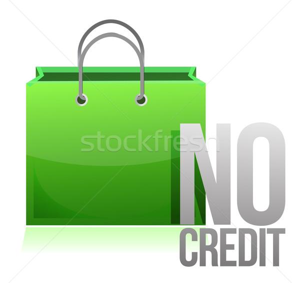 no credit shopping card illustration design over a white backgro Stock photo © alexmillos