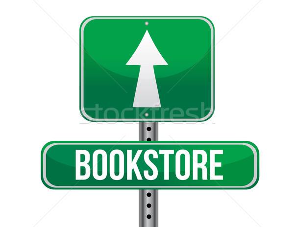 Librería senalización de la carretera calle carretera tráfico tienda Foto stock © alexmillos