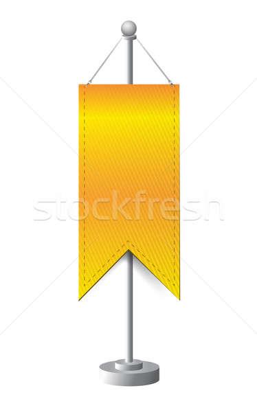 orange stand banner template illustration design over white Stock photo © alexmillos