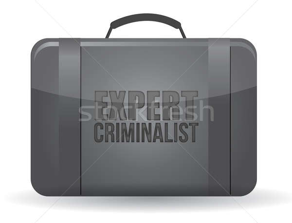 expert criminalist suitcase illustration design over a white bac Stock photo © alexmillos