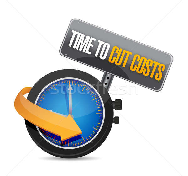 time to cut cost concept illustration design over white Stock photo © alexmillos