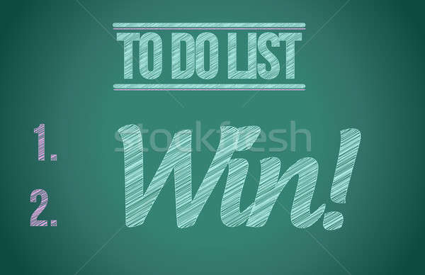 Stock photo: to do list win concept illustration design over white