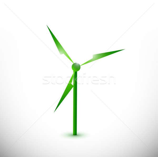 Eco molino de viento ilustración diseno blanco resumen Foto stock © alexmillos