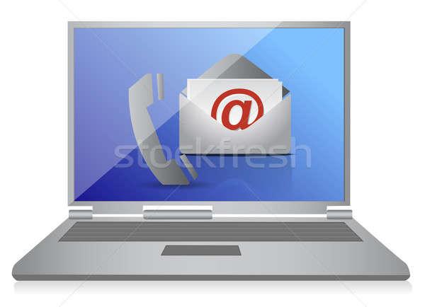 ноутбука иллюстрация дизайна белый бизнеса Сток-фото © alexmillos