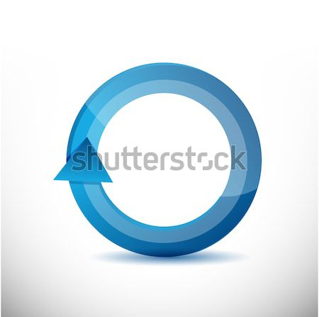 On the move 360 degrees concept cycle illustration design over w Stock photo © alexmillos