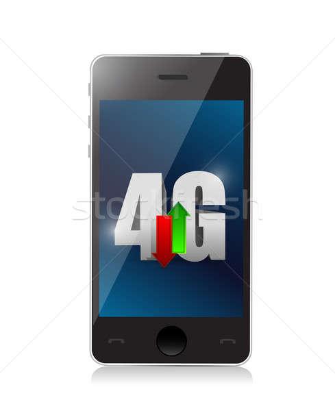 Telefon 4g kapcsolat illusztráció terv internet Stock fotó © alexmillos