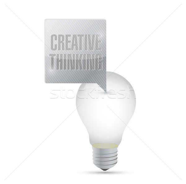 電球 アイデア 創造的思考 メッセージ 作業 光 ストックフォト © alexmillos