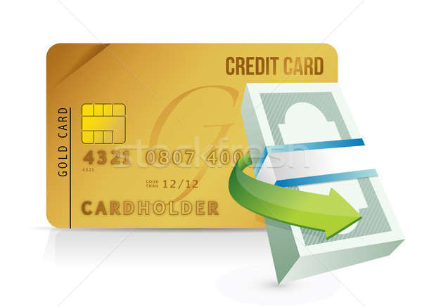 Credit card purchasing limit concept Stock photo © alexmillos