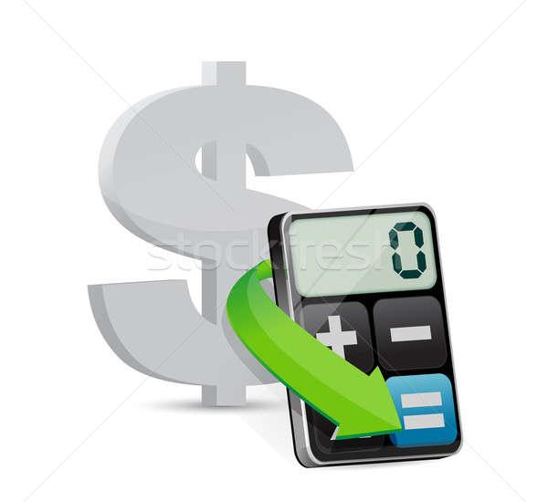 Dollar and modern calculator Stock photo © alexmillos