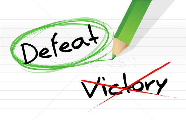 Győzelem vereség toll kérdés rajz ír Stock fotó © alexmillos